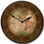17th C. Old World Map Clock