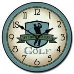 Blue Golf Clock