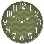 Chevron Green Clock