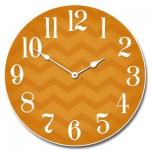 Chevron Orange Clock