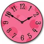 Hot Pink Dots Clock