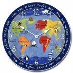 Kids World Map Clock