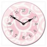 Light Pink Swirls Clock