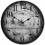 Gray Map Clock
