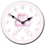 Pink Bow Clock