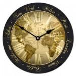 Bon Voyage Map Clock