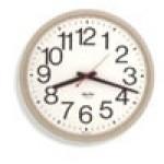 "Franklin K-Series Clock - 12"" Quartz, 12 Hour, Standard Full Numbered Dial - Putty Case"