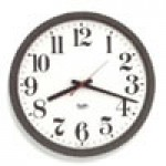 """Franklin K-Series Clock - 12"""" Electric with Battery Back-Up, Standard Full Numbered Dial - Brown Case"""