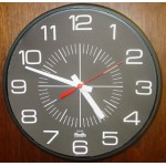 "Franklin Commercial Wall Clock - Standard Sunburst Black Dial - Style H, 12"" Quartz"