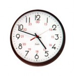 Franklin Commercial Wall Clock - 12/24 Hour Dial