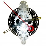 Large Moving Gear Wall Clock - Black Plexi Dial
