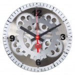 "10"" Moving Gear Wall Clock - Glass Cover"