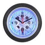 Auto Tire Clock with Neon Light 14