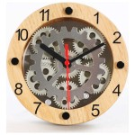 Wooden Moving Gear Clock