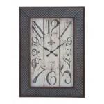 Charming Designed Metal Wood Wall Clock
