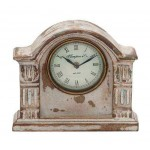 Traditional Wooden Mantle Clock with Weathered Looks