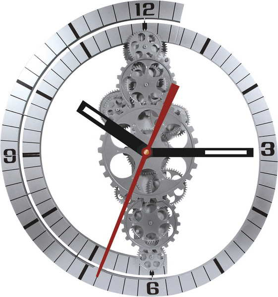 Large Moving Gear Wall Clock